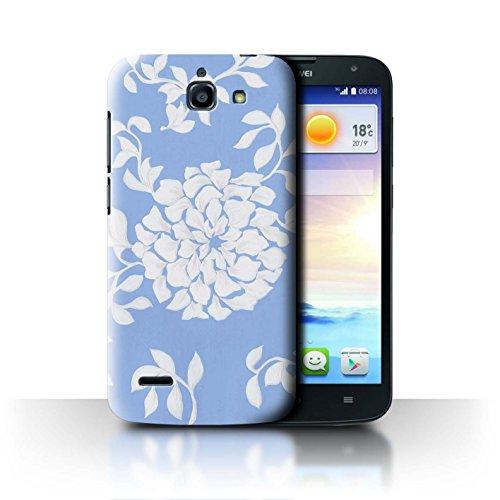 Stuff4 Hülle/Hülle für Huawei Ascend G730 / Leichte Blume Muster/Blau Mode Kollektion