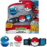 Pokeball Pokemon Clip 'n' Go - Cinturón porta bolas con figura Squirtle Tortuga y 2 original oficial