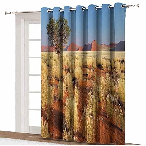 ousente Cortina divisora de habitación, diseño de árbol de acacia desierto de Sossusvlei Namibia del sur de África del Sur con aislamiento térmico, 20,3 x 7 cm, para puerta corredera de cristal