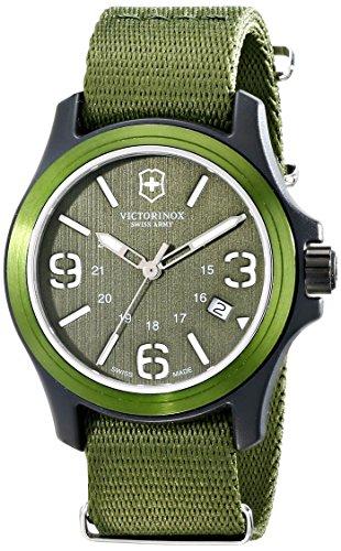 Victorinox Unisex 241514 Original Resin Watch With Green Nylon Band