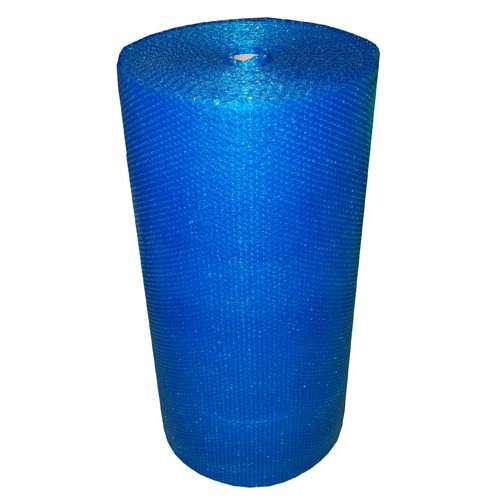 Realpack - Rollo de papel de burbujas de color azul fuerte (750 mm x 100 m), color azul