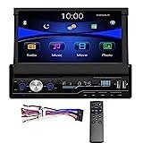 Regetek Single Din Car Stereo 7 inch Bluetooth Car Audio Video Player RDS