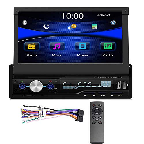 Regetek Single Din Car Stereo 7 inch Bluetooth Car Audio Video Player RDS...