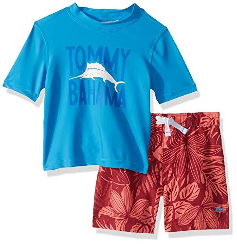 Tommy Bahama Boys' Baby Rashguard and Trunks Swimsuit Set, Blue 19, 24 Months