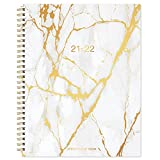 2021-2022 Weekly Appointment Book & Planner - Daily Hourly Planner with Twin-wire Binding, 8' x 10', Jul 2021 - Jun 2022, 30-Minute Interval, Flexible Marble Cover, Lay - Flat