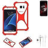 K-S-Trade® Mobile Phone Bumper + Earphones For Sharp Aquos