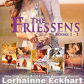 The Friessens     Boxed Set, Books 1-5              By:                                                                                                                                 Lorhainne Eckhart                               Narrated by:                                                                                                                                 Valerie Gilbert                      Length: 22 hrs and 27 mins     14 ratings     Overall 4.4