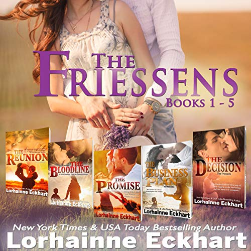 The Friessens     Boxed Set, Books 1-5              Written by:                                                                                                                                 Lorhainne Eckhart                               Narrated by:                                                                                                                                 Valerie Gilbert                      Length: 22 hrs and 27 mins     Not rated yet     Overall 0.0