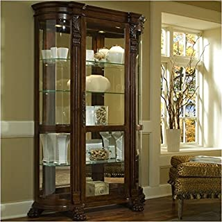 BOWERY HILL Curved End Curio Cabinet