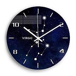 N /A Wall Clocks Constellation Acrylic Digital Wall Clock for Living Room Virgo Silent Decorative Wall Clock Modern Design Watch Home Decor