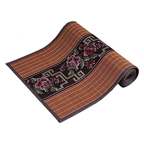 Tabla De Bambú De Bambú Impermeable Corredor Marrón, Durable Algodón Fildesa Mesa Mesa Elegante Diseño Floral Coloque Mat, Limpie Clean (Size : 30×120cm)