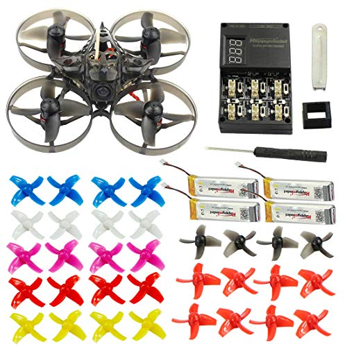 FEICHAO Happymodel Mobula7 75mm Crazybee F3 Pro OSD 2S Whoop FPV Racing Quadcopter w/ 700TVL Camera BNF Drone with Extra 10 Pairs Propeller (DSM2/DSMX, Standard Version)