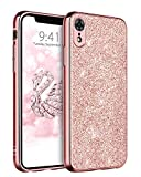 DUEDUE iPhone XR Hülle, iPhone XR Handyhülle Glitzer Ultra-Slim Hülle Cover Schutzhülle Bling Handy-Tasche für iPhone XR - Rose Gold