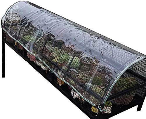 Glass Clear Tarpaulin Waterproof Heavy Duty Tarpaulin, PVC Soft Glass Perforated Edge Reinforced Transparent Rain Cloth For Flowers And Plants, Thicknesses-0.5 Mm; Grams By Weight-500 G/M²