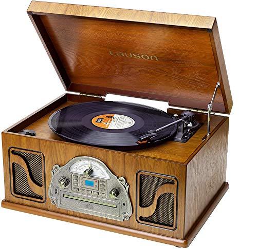 Lauson IVX72 Tocadiscos Multifunción Bluetooth | Tocadiscos Diseño Vintage para UK