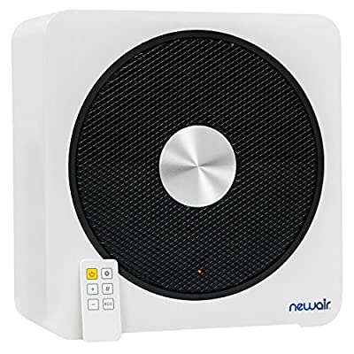 NewAir Ceramic Portable Space Heater with 4 Critical Safety Features, 1500 Watt heats up to 250 sq. ft., Quietheat15, White