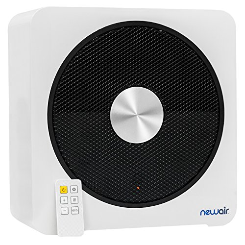 NewAir Ceramic Portable Space Heater with 4 Critical Safety Features, 1500 Watt heats up to 250 sq. ft., Quietheat15, White Electric Features heaters Home Kitchen Space