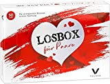 Losbox für Paare von VULAVA® - die Überraschungsbox mit 50 prickelnden Momenten ist das Geschenk für alle Frauen Männer Pärchen u. Freunde - 50 Lose für mehr Liebe Spaß u. Spiel in der Beziehung