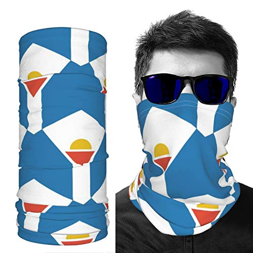 SD3DPrint Bandera de San Martín Unisex Pasamontañas Cara Bufanda Headwear Cuello Polaina Máscara de Polvo Sol UV Polvo a Prueba de Viento 1 unids