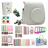 Instax Mini 9 Accessories, Nishow Accessory Kit for Instax Mini 9 Mini 8 8+ Instant Camera Include Instax Mini 9 Case/Film Album/Lenses/Color Filters/Kinds of Frames and Stickers - Smoky White …
