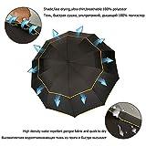 Gbadai Regenschirm-Taschenschirm nichtautomatischer Business-Regenschirm mit Doppelschicht -