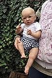 DZCGTP 55CM Silicona Saskia Bebé recién Nacido Muñeca Reborn Realista Pintura a Mano Detallada Muñeca Coleccionable de Tacto Suave Real, Ojos Marrones