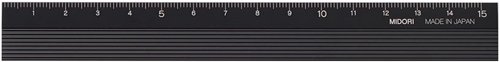 Midori Aluminium Ruler 15cm Black (42256006)