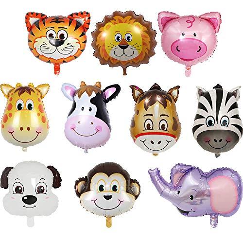 Globo Animal Set Juego De Globos De Helio Animal Para Niño Juego De Globos De Papel Helio Animal Globos Animales Fiesta Infantil Para Fiesta De Carnaval Evento Empresarial o Arreglo De Boda 10 Piezas