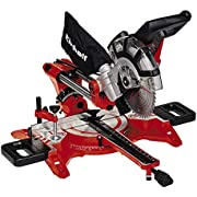Einhell Dual Drag, Crosscut and Mitre Saw TC-SM 2131/1 (Max. 1800 W, 4900 rpm, integrated Drag Function, Workpiece Stop, Clamping Device, Carbide-Tipped Saw Blade, Laser)