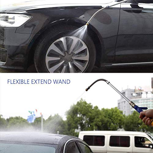 Buyplus High Pressure Power Washer Wand - 39'' Extendable Flexible Hydro Jet Car Hose Attachment,Deep Washing Sprayer,Window Glass Cleaner Tool Nozzle,Garden Water Gun,Foam Cannon,Brush,2 Tips