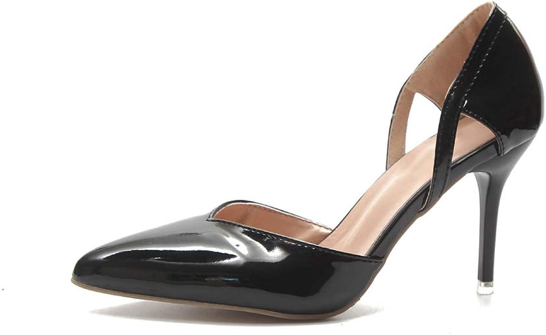 Lnyy Sommer Sandalen Sandalen Frauen flachen Mund Spitzen High Heel Damenschuhe High Heels einzelne Schuhe  Willkommen zu kaufen