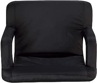 Naomi Home Venice Stadium Seat for Bleachers Portable Reclining with Armrest Black/Grande
