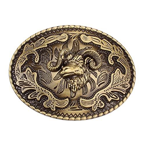 YUTRD yutpd Metal Steampunk cinturón Hebilla gótico clásico Jinete día de Pascua para los Accesorios de Jeans (Color : A, Size : 3.93x2.44inch.)