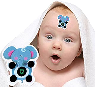 Baby Forehead Strip Stickers Thermometer, Samber 30pcs Cartoon Sticker LCD Forehead Thermometers Body Fever Thermometers Head Bands