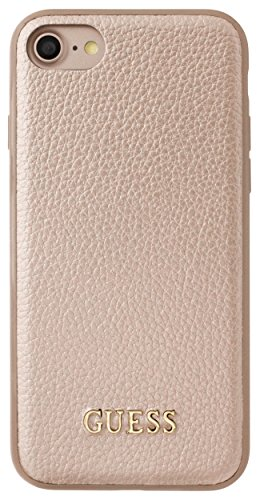 Guess GUHCP7IGLRG Iridescent Collection Hart Schutzhülle für Apple iPhone 7 Rose Gold