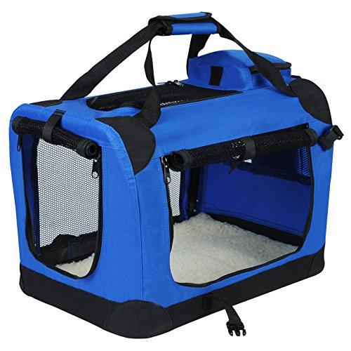 EUGAD Hundebox faltbar Hundetransportbox Auto Transportbox Reisebox Katzenbox 0113HT