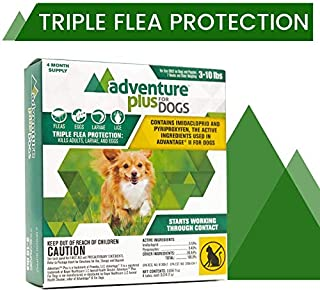 Adventure Plus Triple Flea Protection for Dogs, Small, 3-10 lbs