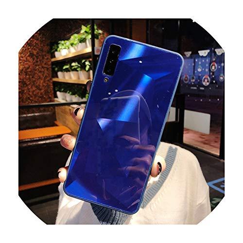 Diamond Mirror Case for Samsung Galaxy A70 A50 A30 A10 M30 M20 M10 S10 S10e S8 S9 A9 A7 A8 J4 J6 J8 Plus 2018 Note9 Soft Cover,J4 Plus 2018 (J415),Blue