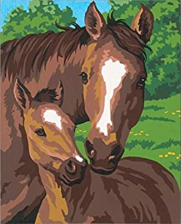 Dimensions Horse Family Paint by Numbers for Adults, 8'' x 10''