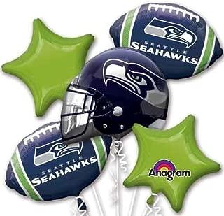 Five Balloon Bouquet Pack Seahawks Balloon Bouquet