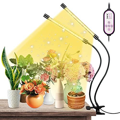 ZOROSS Lámparas LED para plantas, espectro completo, 40 LED, espectro completo para plantas de interior, invernadero, verduras, flores para plantas de interior, con temporizador