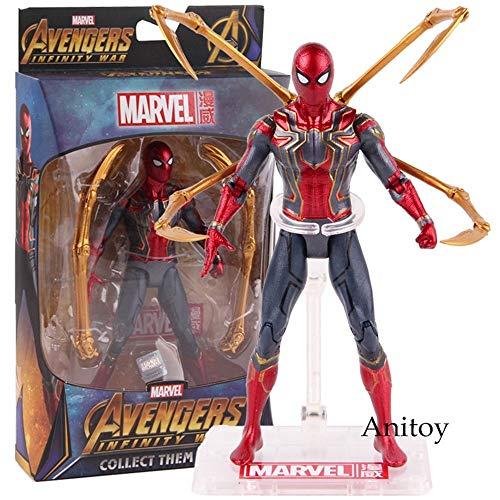 Muñeca de superhéroes Hot Toys Marvel Avengers Infinity War Iron Spider Spiderman Figura de acción PVC Spider Man Figura de colección Modelo de juguete 17 cm Aumentar su espíritu de superhéroes