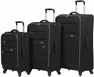 مجموعة حقائب السفر الدوارة الناعمة دولوميتي من ميا تورو ايتالي مكونة من 3 قطع، لون أسود, , اسود - M1110-03PC-BLK