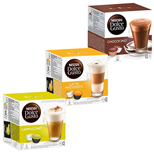 Nescafé Dolce Gusto Cream Collection Kaffee, Kaffeekapsel, 3 Sorten, 48 Kapseln (24 Portionen)