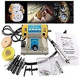 InLoveArts smerigliatrice smerigliatrice lucidatura macchina utensile kit 350 W 220 V 10000r / min tornio da banco lucidatrice, multifunzionale lavorazione del legno giada taglio per fai da te manuale