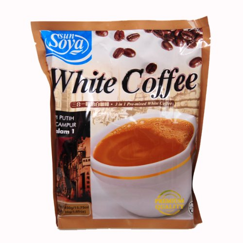 White Coffee (Sun Soya) 3 in 1 Pre-mixed White Coffee