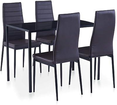 Pack de 6 sillas de Comedor Andros, tapizadas Polipiel y ...