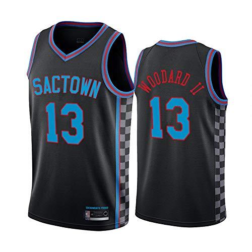 HS-XP Hombres 21 Temporada Nueva Edición NBA Sacramento Reyes # 13 Robert Woodard II Jersey De Baloncesto Fitness Tank Top Sports Top,Negro,XXL(185~190cm)