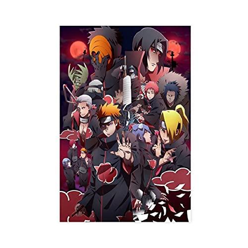 Póster de anime Naruto Akatsuki Dolor Itachi Uchiha 15 lienzo para decoración de pared, para sala de estar, dormitorio, decoración de 30 x 45 cm