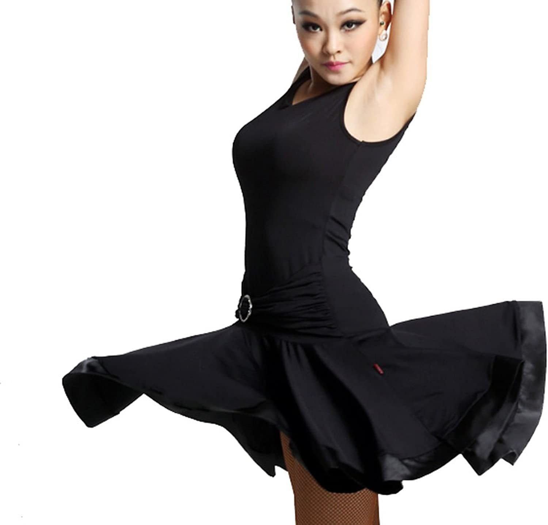 CHAGME Latin Dance Dress Latin Dance Practice Skirt Dress Show Tango Dress Cha Cha Dress Ballroom Skirt
